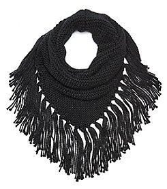 Steve Madden Triangle Snood With Fringe