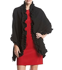 Collection 18 Ruffled Boucle Wrap
