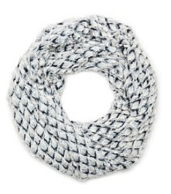 Cejon Two Tone Twisted Cowl Loop Scarf