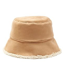 Nine West Faux Sherling Bucket Hat