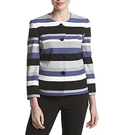 Nine West Stripe 4 Button Jacket