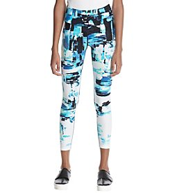 Calvin Klein Performance Abstract Pattern Cropped Leggings