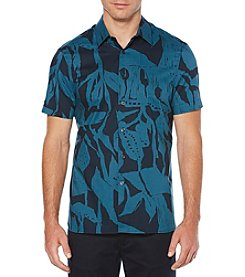 Perry Ellis Men's Big & Tall Printed Twigs Button Down Shirt