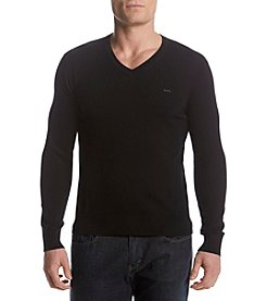 Michael Kors Men's V-Neck Long Sleeve Tee