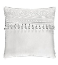 J. Queen New York Bianco  Square Embellished Pillow