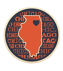 Sunset Hill Stoneware Illinois Chicago Coaster