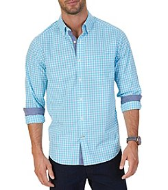Nautica Men's Long Sleeve Framed Check Button Down
