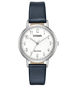 Citizen Eco-Drive Women's Stainless Steel Leather Chandler Watch