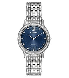 Citizen Eco-Drive Women's Stainless Steel Silhouette Crystal Watch