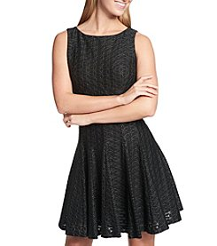 Tommy Hilfiger Floral Lace Fit & Flare Dress