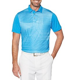 PGA TOUR Men's Foilage Print Short Sleeve Polo