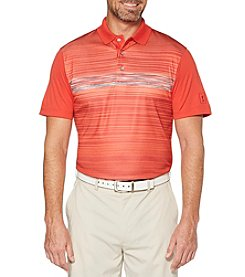 PGA TOUR Men's Fading Space-Dye Printed Short Sleeve Polo