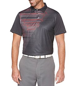 PGA TOUR Men's Asymmetrical Argyle Short Sleeve Polo