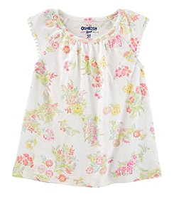 OshKosh B'Gosh Girls' 4-8 Flutter Sleeve Floral Top