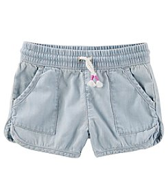 OshKosh B'Gosh Girls' 4-8 Pull-On Crosshatch Shorts