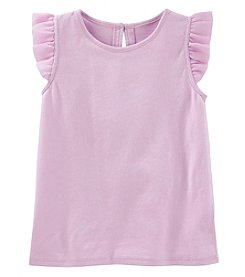 OshKosh B'Gosh Girls' 2T-5T Floral Flutter Sleeve Top