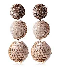 Robert Rose Sequin Ball Drop Earrings