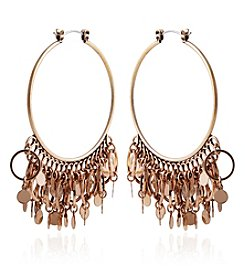 Robert Rose Rust Goldtone Hoop Earrings