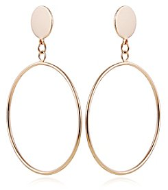 Robert Rose Goldtone Hoop Earrings