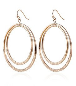 Robert Rose Goldtone Double Hoop Earrings