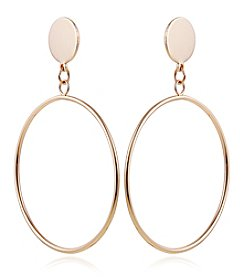 Robert Rose Goldtone Drop Cast Earrings