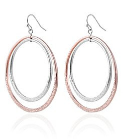 Robert Rose Two Tone Double Hoop Earrings