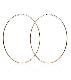 Robert Rose Goldtone Endless Hoop Earrings