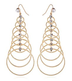 Robert Rose Goldtone Drop Earrings