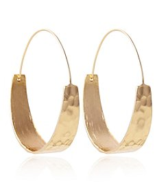 Robert Rose Goldtone Tapered Hoop Earrings