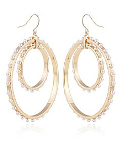 Robert Rose Goldtone Double Circle Hoop Earrings