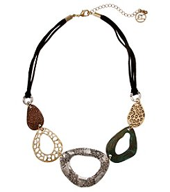 Erica Lyons Multi Tone Ovals Necklace