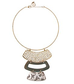 Erica Lyons Small Tri Tone Torque Necklace