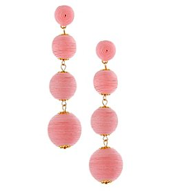 Erica Lyons Goldtone Pink Drop Earrings