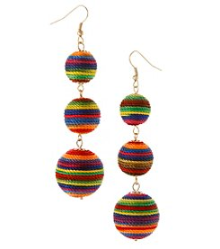 Erica Lyons Goldtone Multicolored Drop Earrings