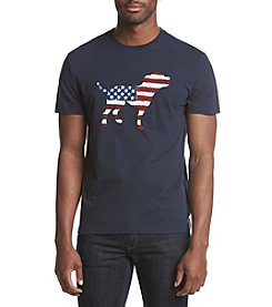 John Bartlett Consensus Men's American Flag Dog Graphic Tee