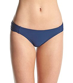 Jessica Simpson Side Shirred Hipster Swimsuit Bottoms