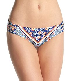 Jessica Simpson Strappy Side Hipster Swim Bottoms