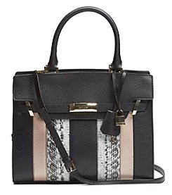 Calvin Klein Brooke Stripe Leather Tote