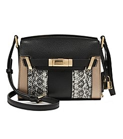 Calvin Klein Brooke Stripe Leather Crossbody