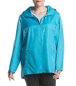 8623c180df Exertek Plus Size High Low Hem Jacket