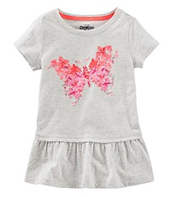 Oshkosh B'Gosh Girls' 2T-6X Short Sleeve Butterfly Tunic