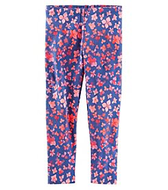 Oshkosh B'Gosh Girls' 2T-8 Cherry Bomb Floral Leggings