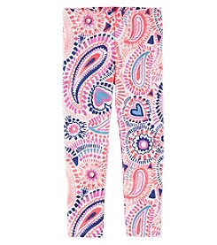 Oshkosh B'Gosh Girl's 2T-8 Paisley Heart Leggings