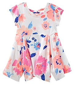 Oshkosh B'Gosh Girls' 2T-6X Floral Peplum Tunic Top