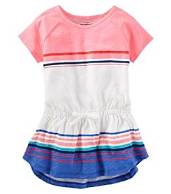 Oshkosh B'Gosh Girls' 2T-6X Striped Tie Waist Tunic Top