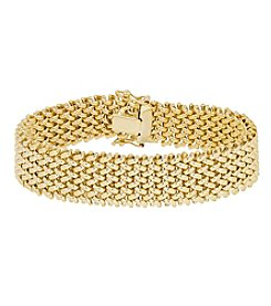 14K Yellow Gold Polished Interlock Woven Link Bracelet