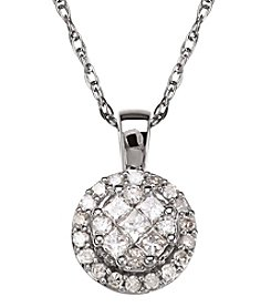10K White Gold 0.375 Ct. T.W. Diamond Pendant