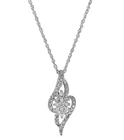 10K White Gold 0.33 Ct. T.W. Diamond Pendant