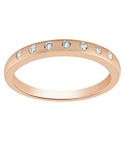 10K Rose Gold 0.10 Ct. T.W. Diamond Band Ring
