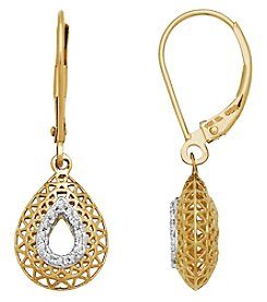 14K Yellow Gold 0.10 Ct. T.W. Diamond Earrings
